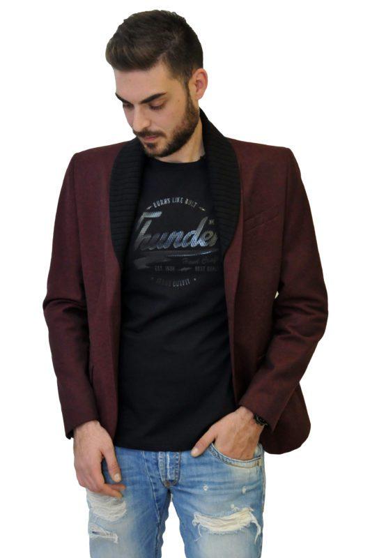 Μπορντό βαμβακερό σακάκι της ελληνικης εταιρίας Me&My