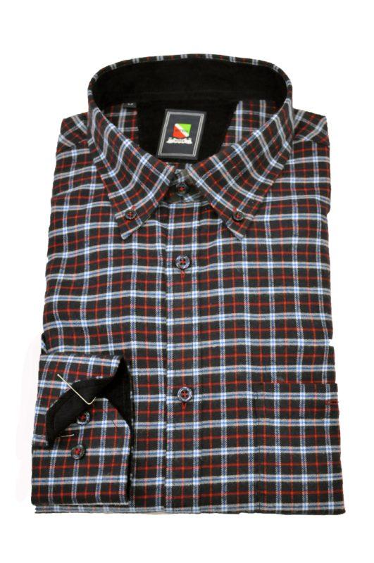 Καρό μακρυμάνικο πουκάμισο BOTEGA τύπου φανέλας
