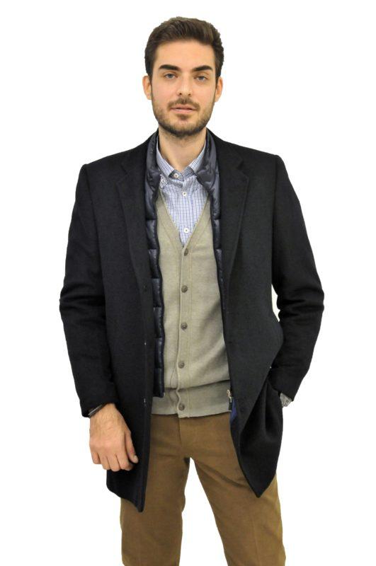 Μπλέ σκούρο παλτό MAN2MAN