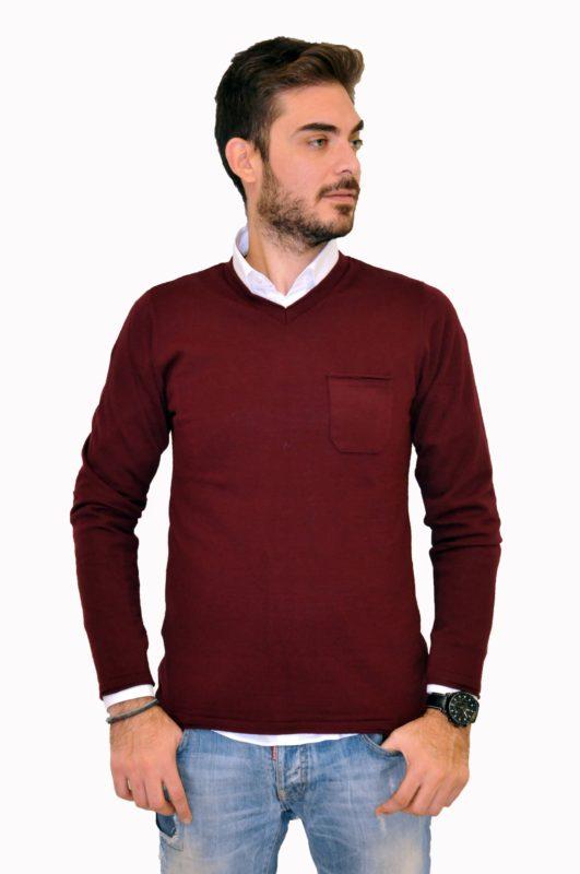 Μπορντό πλεκτή μπλούζα 3PLAY