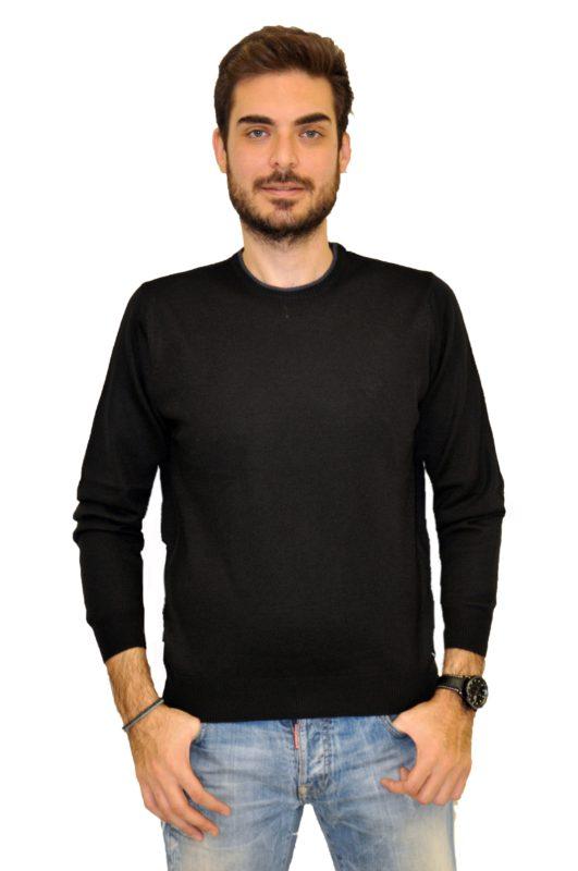 Μαύρη πλεκτή μακρυμάνικη μπλούζα