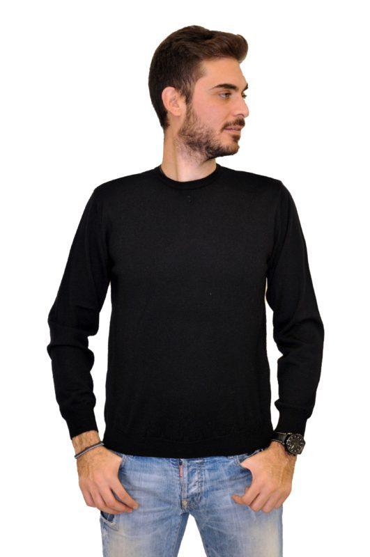 Μαύρη πλεκτή μπλούζα MAN2MAN