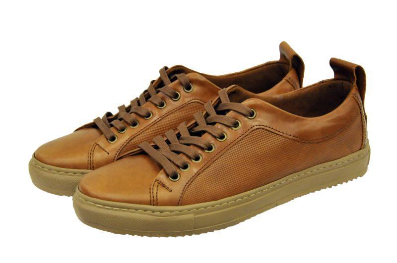 Καφέ ταμπά δερμάτινα παπούτσια MAN2MAN