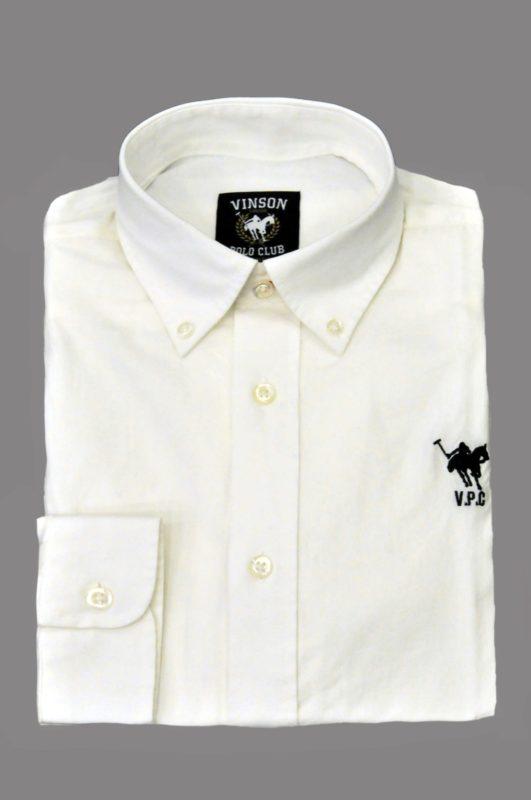 Λευκό βαμβακερό μακρυμάνικο πουκάμισο Polo Club Vinson