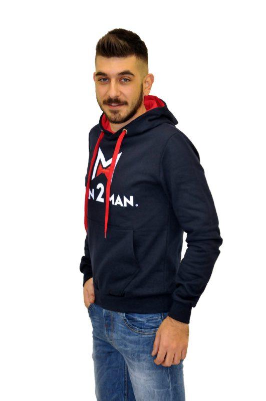 Μπλέ φούτερ μπλούζα MAN2MAN