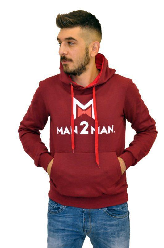 Μπορντό φούτερ μπλούζα MAN2MAN