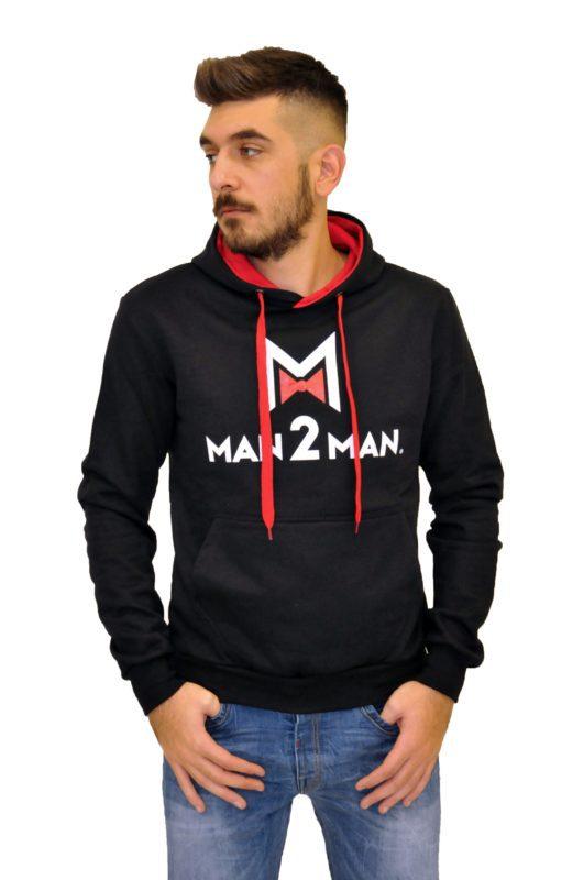 Μαύρη φούτερ μπλούζα MAN2MAN