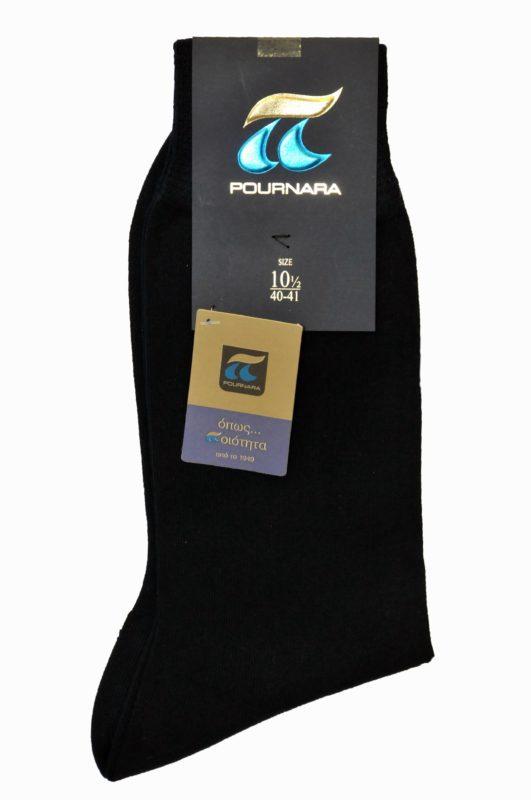 Μονόχρωμες μαύρες κάλτσες Πουρνάρα