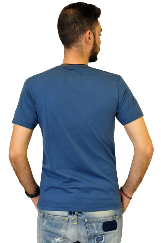 Ραφ βαμβακερό μπλουζάκι με στάμπα Battery τύπου λαιμόκοψη