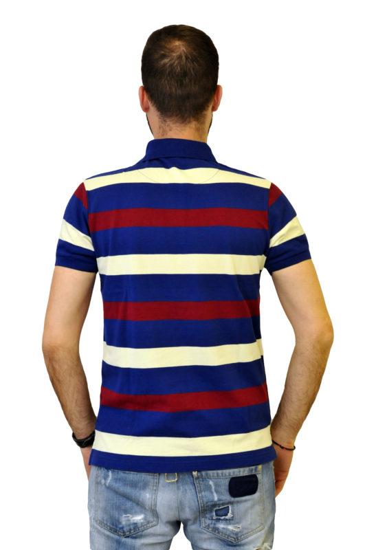 Ριγέ βαμβακερό μπλουζάκι τύπου polo
