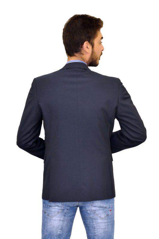 Μπλε σκούρο βαμβακερό σακάκι MAN2MAN