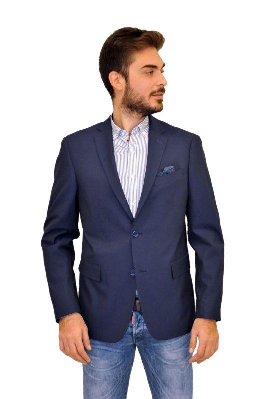 Μπλε βαμβακερό σακάκι MAN2MAN