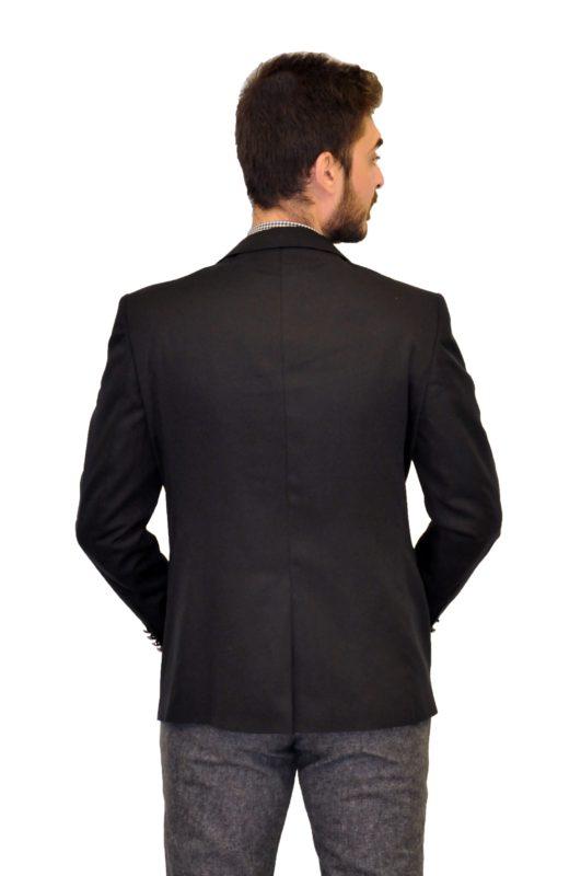 Μαύρο σακάκι MAN2MAN