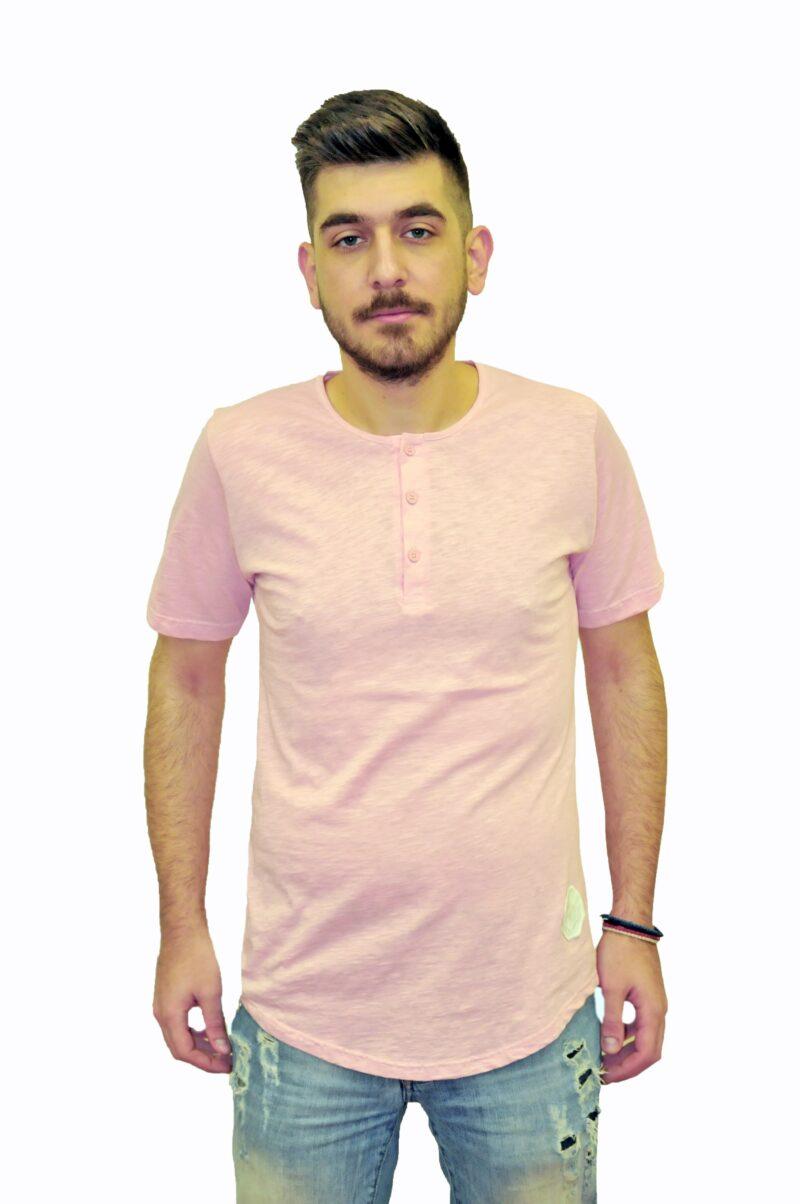Ροζ βαμβακερό μπλουζάκι Reckless