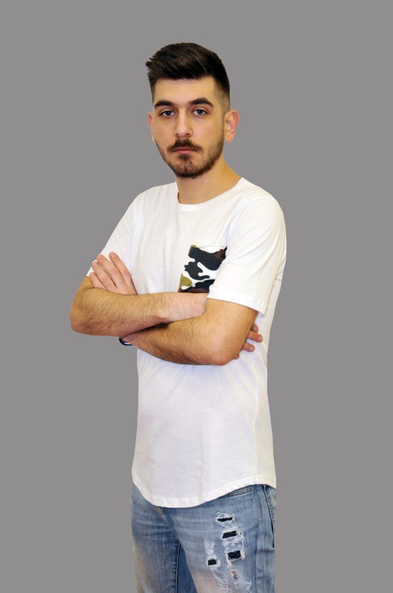 Λευκό βαμβακερό μπλουζάκι Reckless