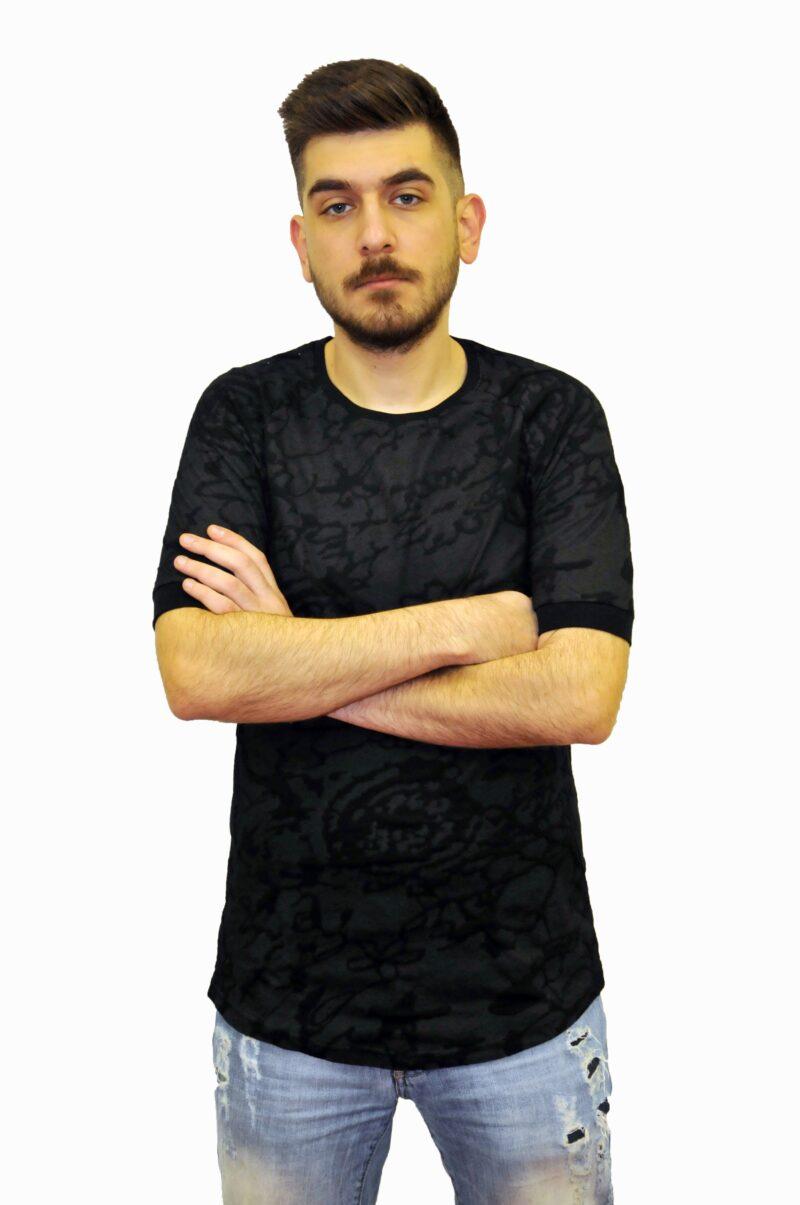 Μαύρο βαμβακερό μπλουζάκι Reckless