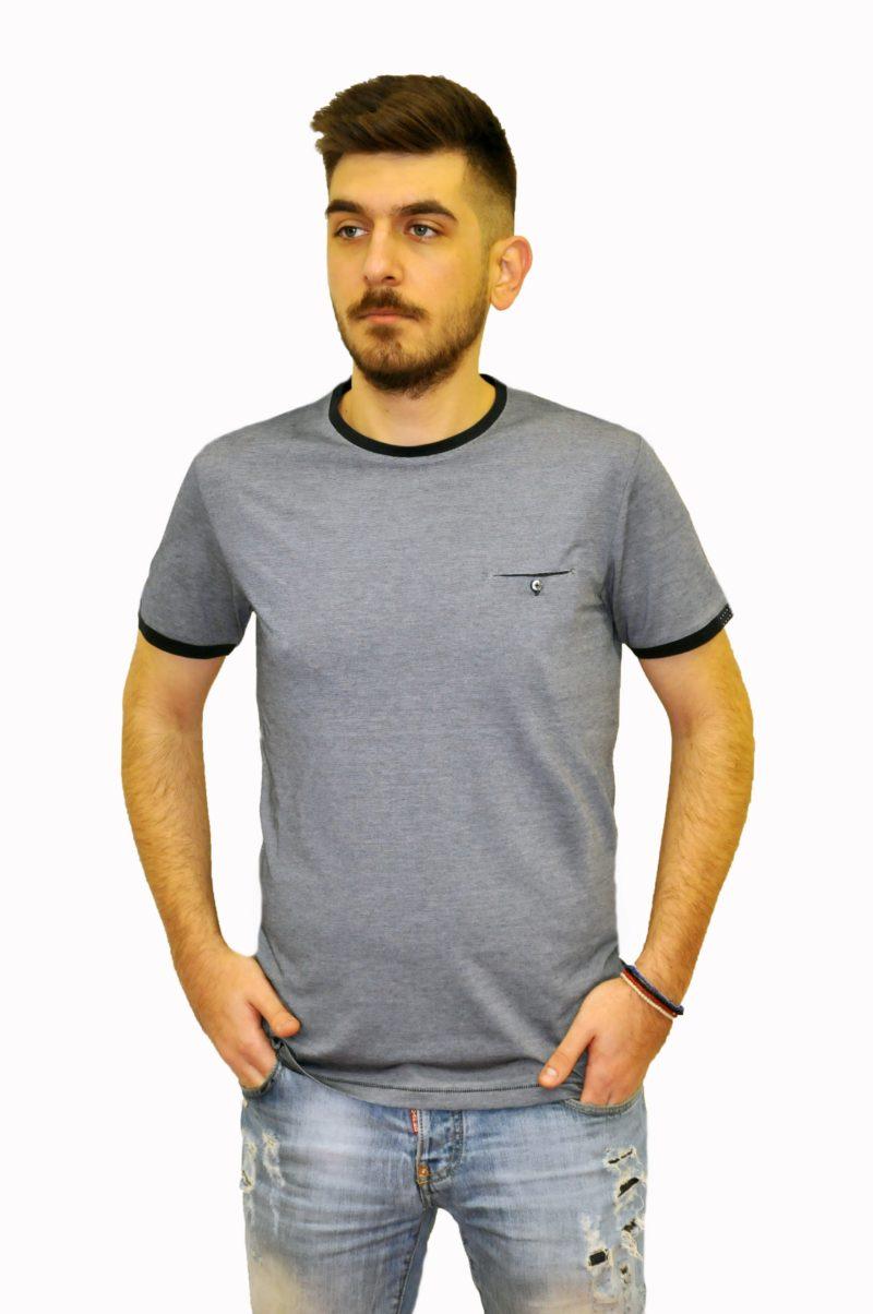 Ραφ βαμβακερό μπλουζάκι Lexton