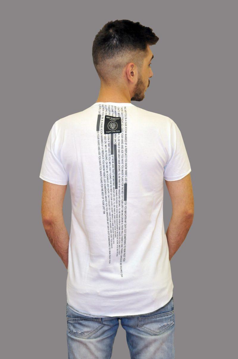 Λευκό βαμβακερό μπλουζάκι MARTINI