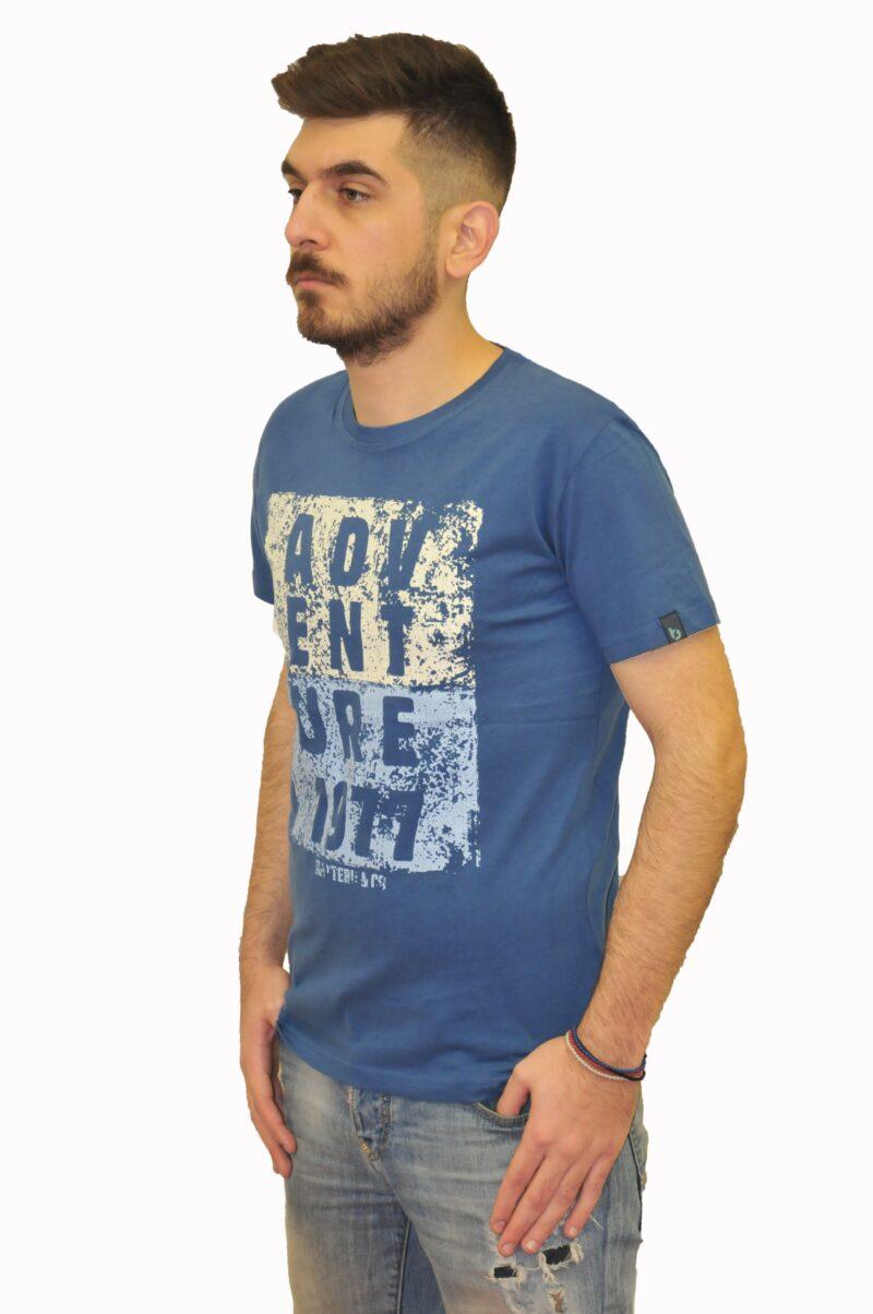 Ραφ βαμβακερό μπλουζάκι BATTERY