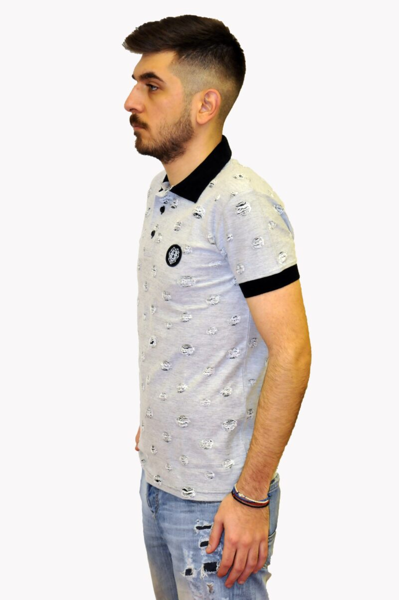 Γκρι βαμβακερή μπλούζα MARTINI
