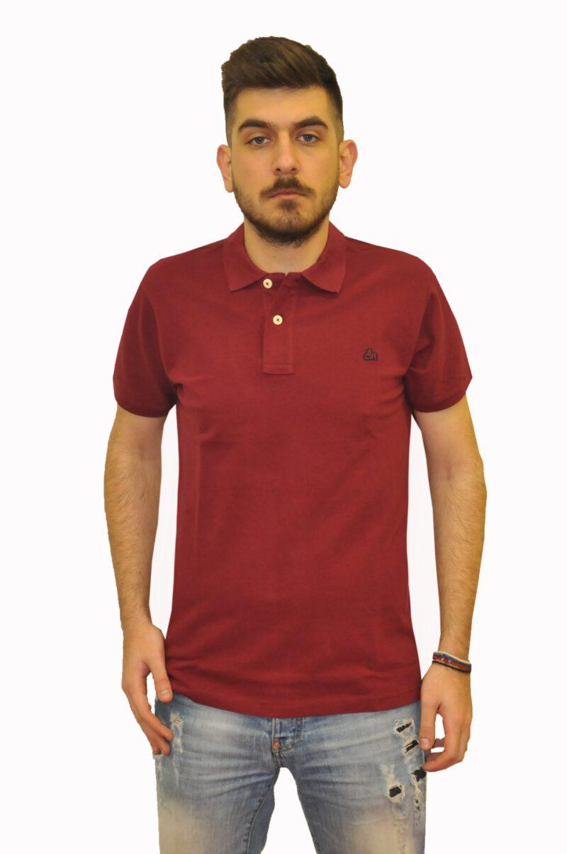 Μπορντό βαμβακερή μπλούζα DUR