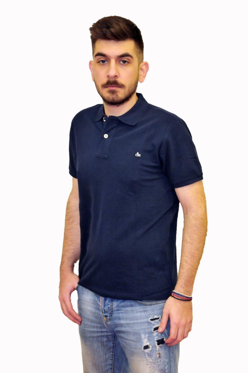 Μπλε σκούρο βαμβακερό μπλουζάκι DUR