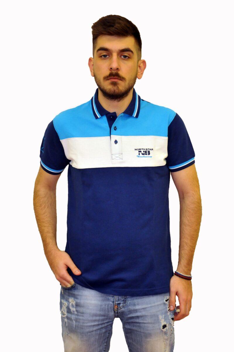 Ραφ ριγέ βαμβακερό μπλουζάκι NORTH STAR