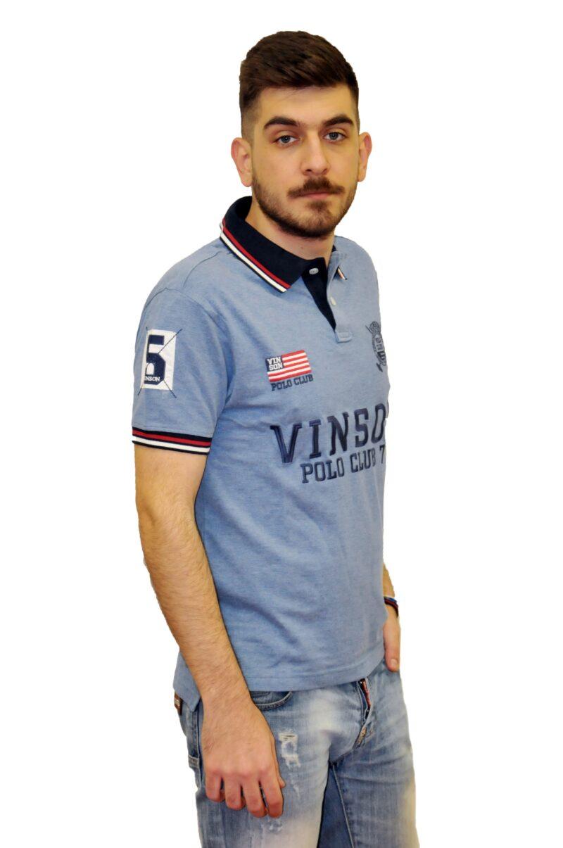 Ραφ βαμβακερό μπλουζάκι POLO CLUB VINSON