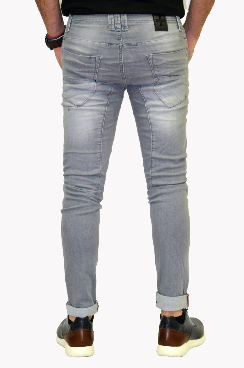 Γκρι τζιν παντελόνι DAMAGED