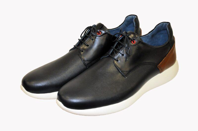 Μπλε δερμάτινο παπούτσι MAN2MAN