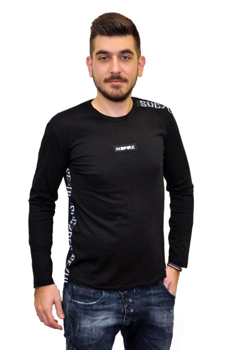 Μαύρη βαμβακερή μπλούζα MARTINI