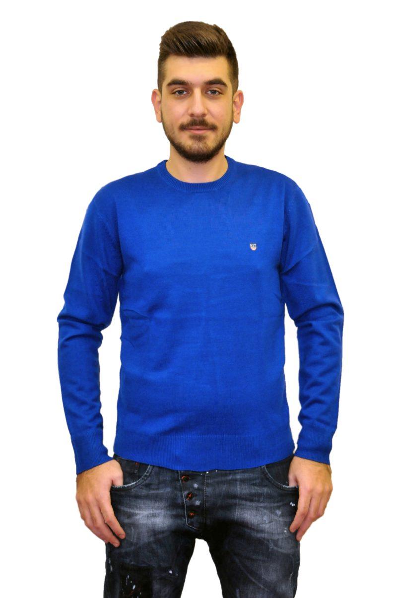 Μπλε πλεκτή μπλούζα NEW YORK TAILORS