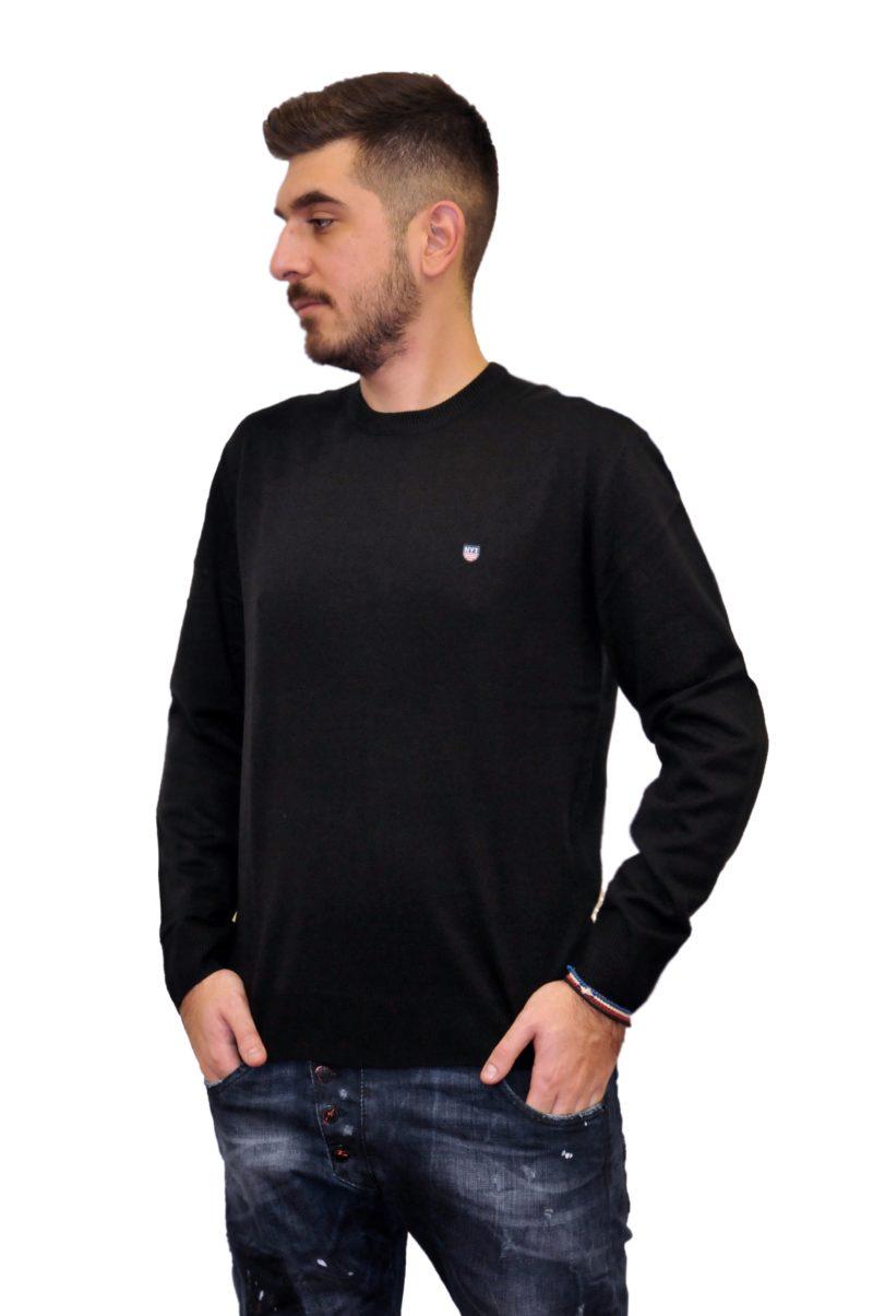 Μαύρη πλεκτή μπλούζα NEW YORK TAILORS