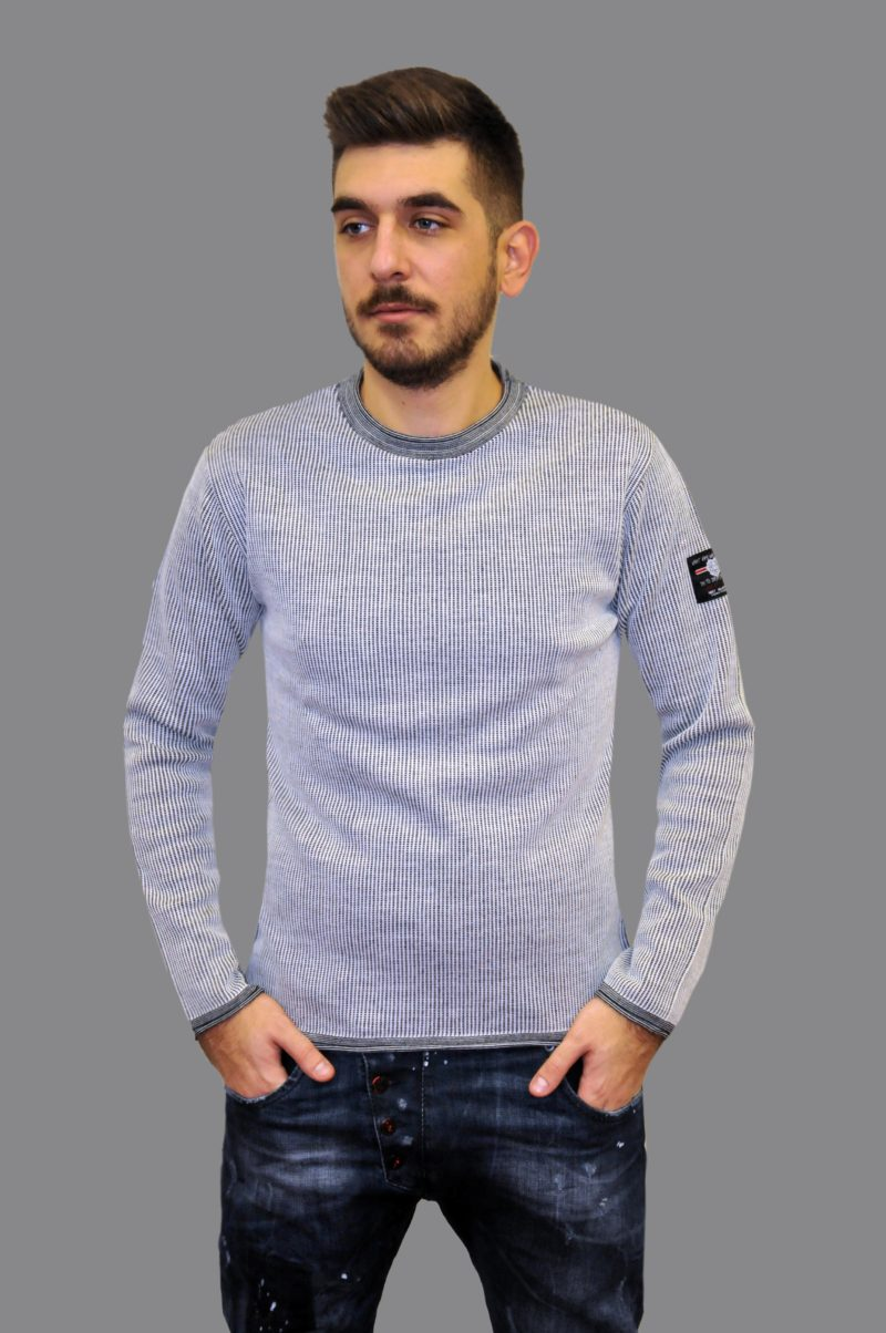 Γκρι πλεκτή μπλούζα MARTINI