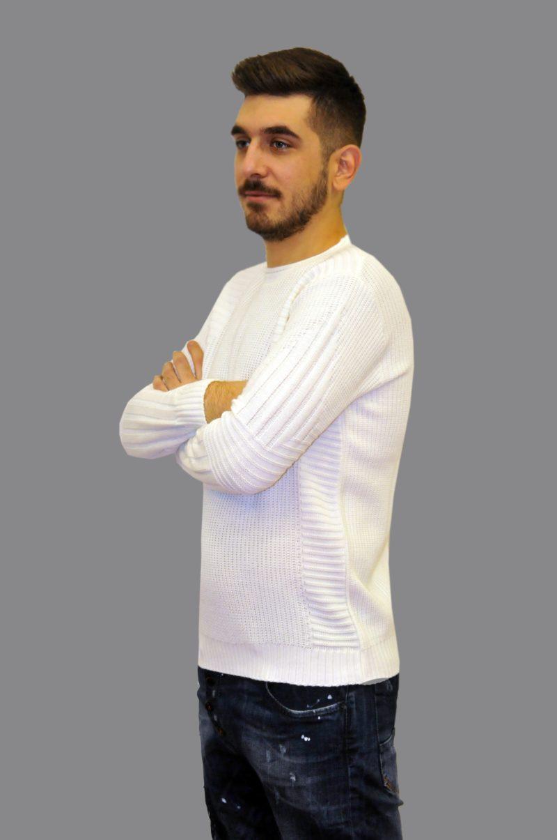 Λευκή πλεκτή μπλούζα MARTINI