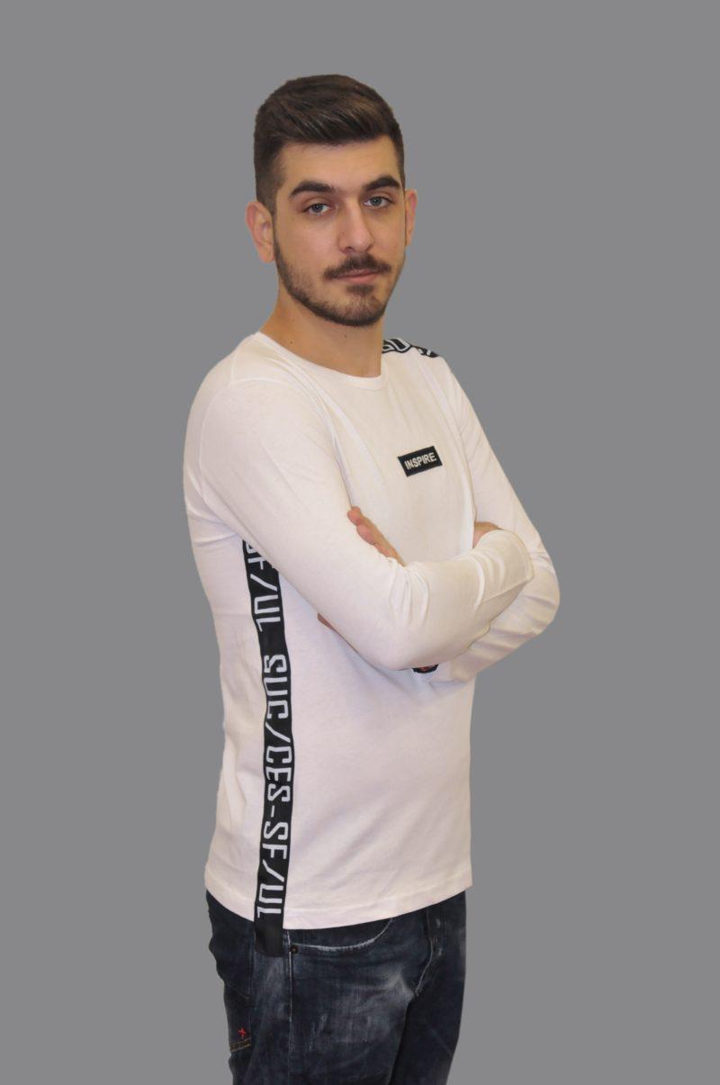 Λευκή βαμβακερή μπλούζα MARTINI