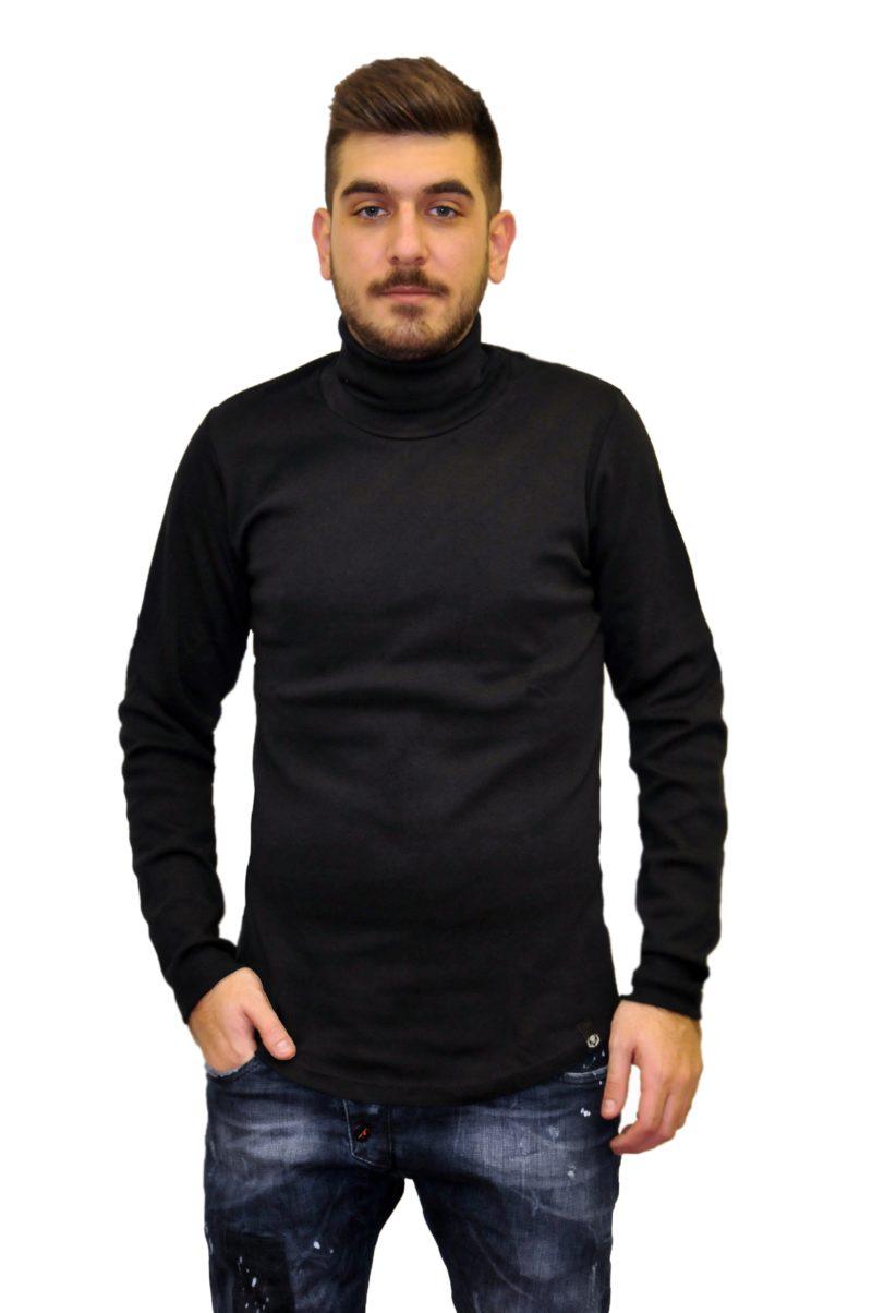 Μαύρη πλεκτή μπλούζα RECKLESS