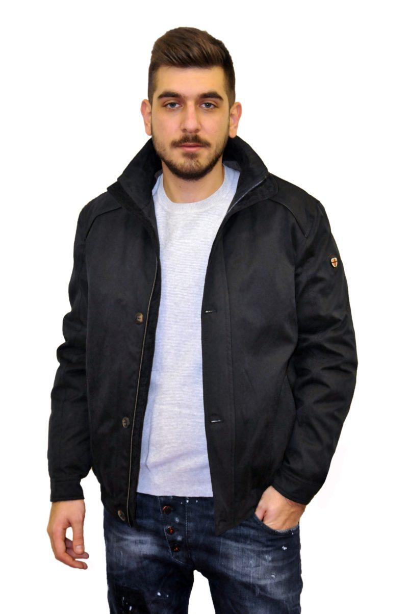 Μαύρο χειμερινό μπουφάν NORTH STAR