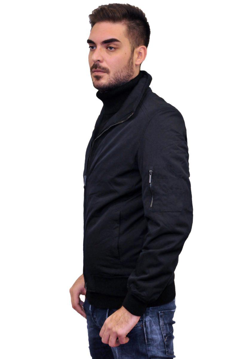 Μαύρο χειμερινό μπουφάν MARCUS