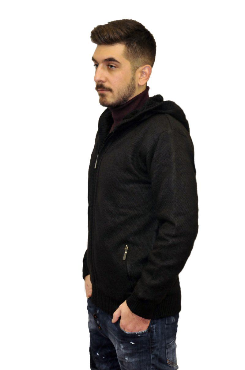 Μαύρη πλεκτή μπλούζα LEXTON