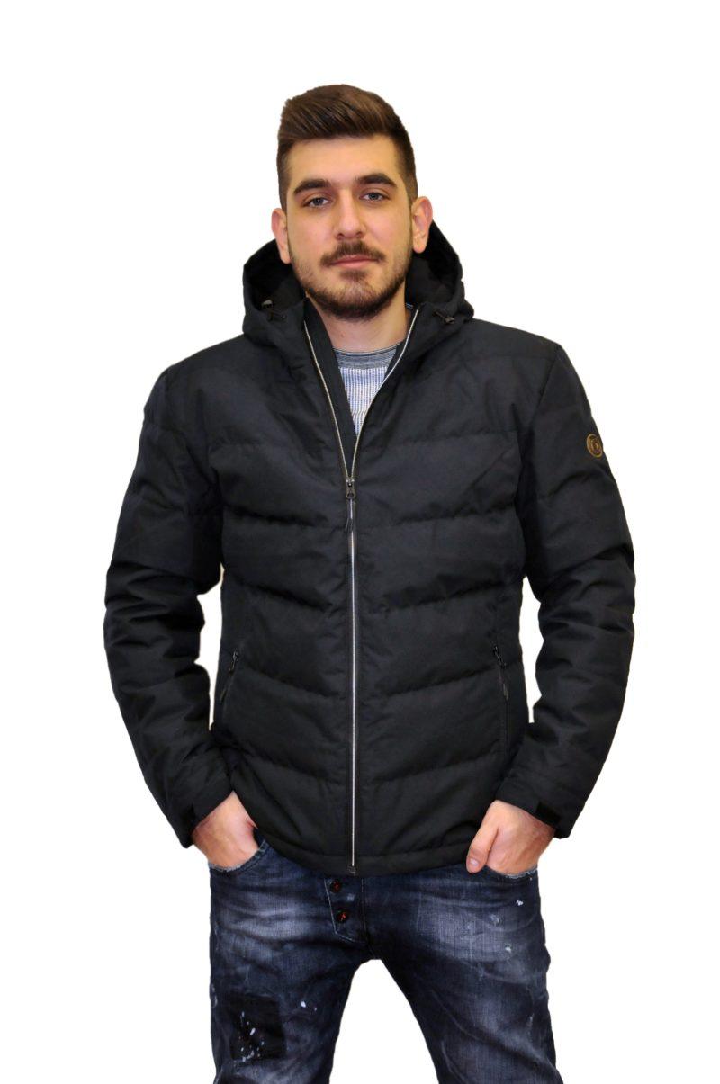 Μαύρο χειμερινό μπουφάν PRE END