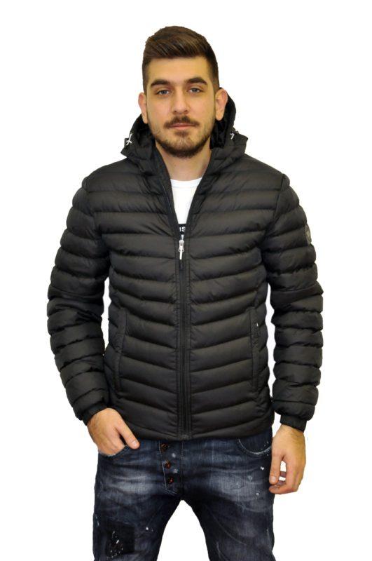 Μαύρο χειμερινό μπουφάν POLO CLUB VINSON
