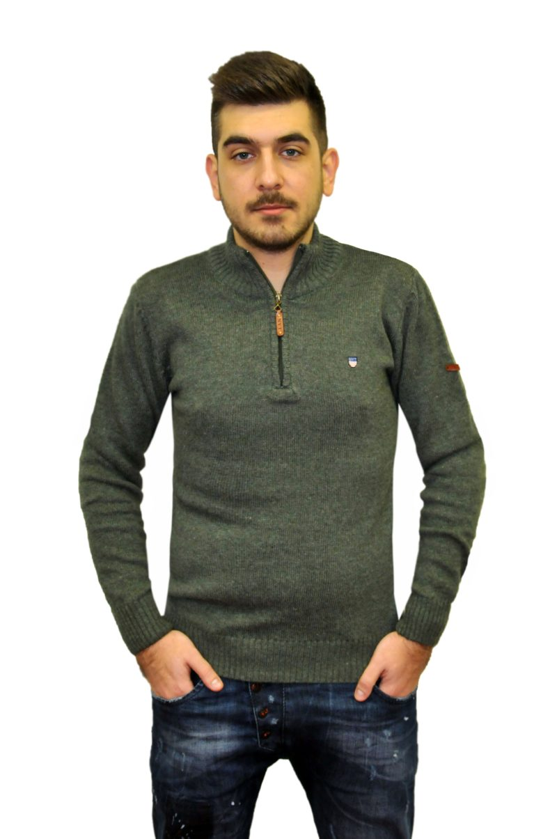 Λαδί πλεκτή μπλούζα NEW YORK TAILORS