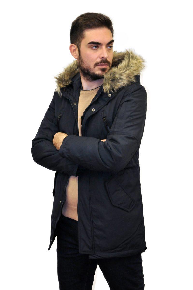 Μπλε σκούρο χειμερινό μπουφάν LEXTON