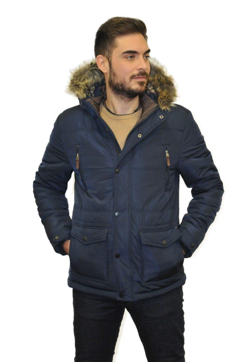Μπλε σκούρο χειμερινό μπουφάν NEW YORK TAILORS
