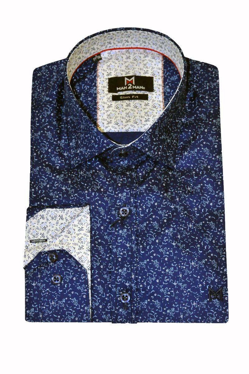 Ραφ εμπριμέ βαμβακερό πουκάμισο MAN2MAN