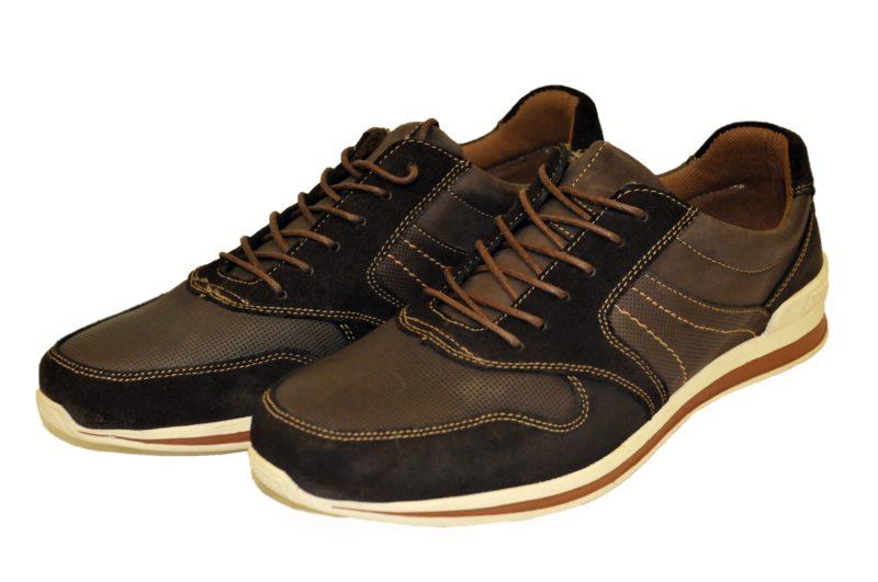 Καφέ δερμάτινα παπούτσια NEW YORK TAILORS