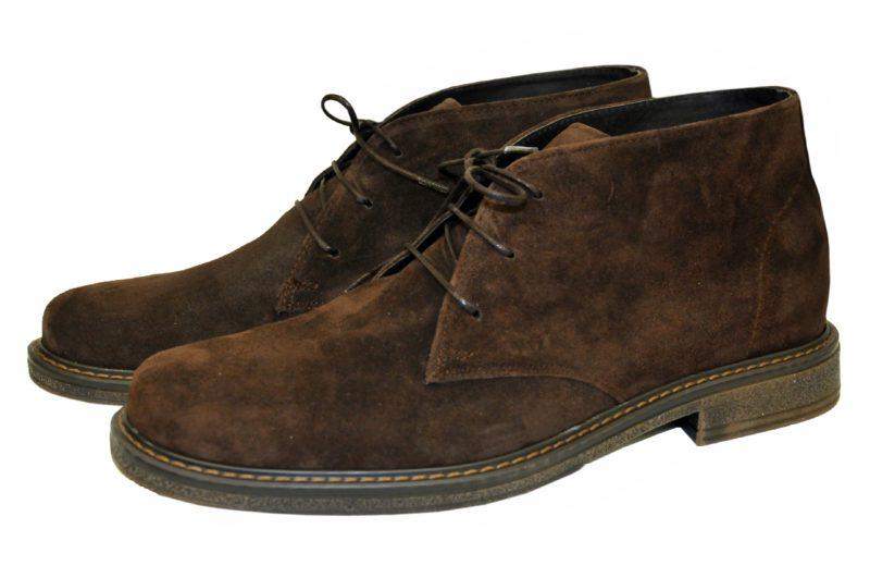 Καφέ δερμάτινα παπούτσια MAN2MAN
