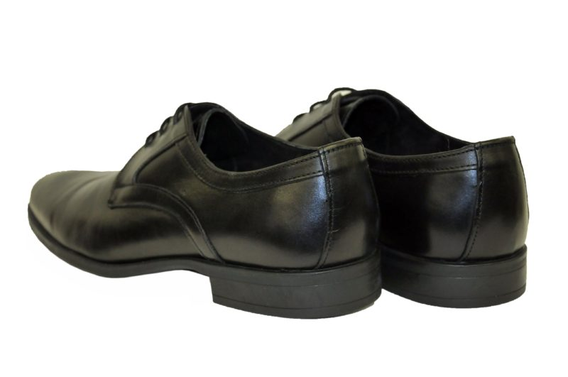 Μαύρα δερμάτινα παπούτσια MAN2MAN