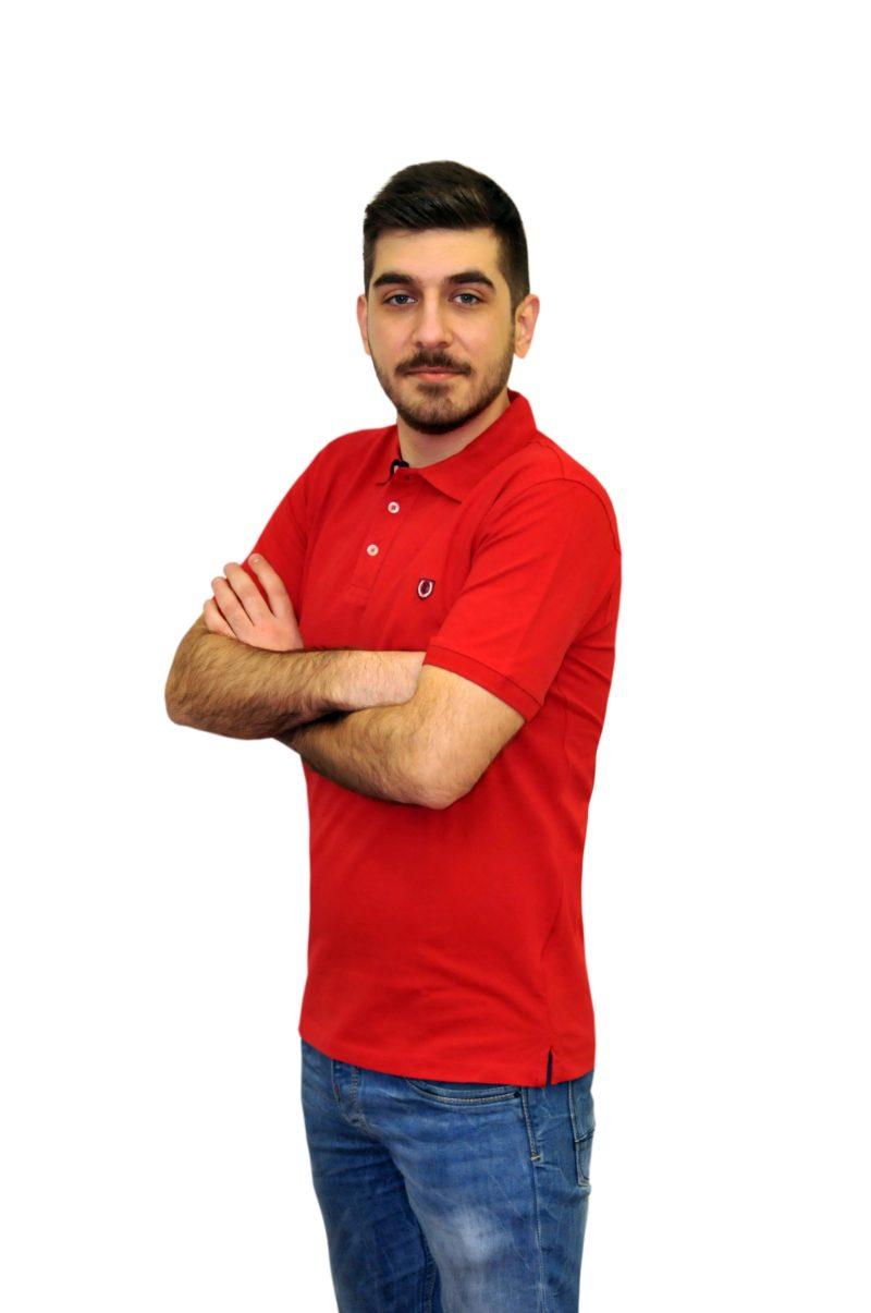 Κόκκινο κοντομάνικο βαμβακερό μπλουζάκι PRE END